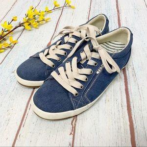 Taos Star Denim Dark Blue Canvas Sneakers